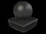 Заглушка квадратная 40х40 мм шар