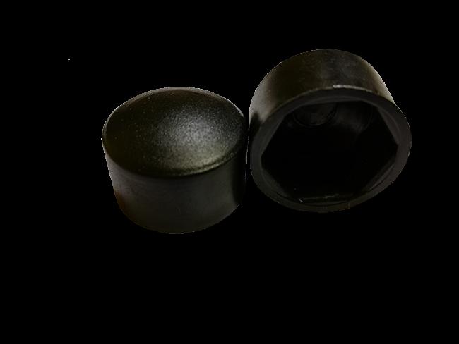 Колпачок М8 плоский (ключ 13) черный